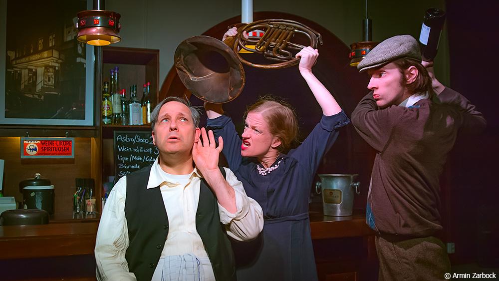 Humor kommt nicht zu kurz: v.l.n.r.: Armin Zarbock, Susanne Bolf, August Geyler