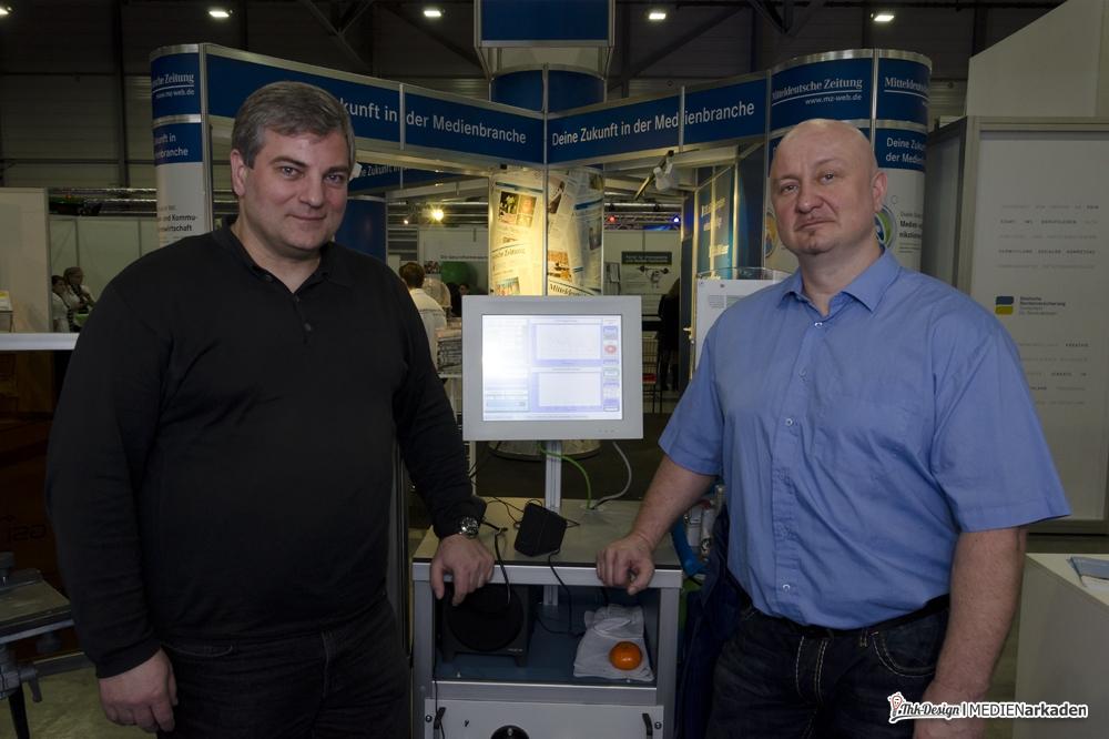 Uwe Möller und Axel Börnert vom GSI SLV