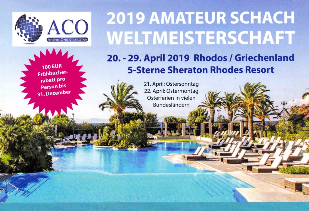 Ankündigung der Amateur-Schach-Weltmeisterschaft_2019_Rhodos