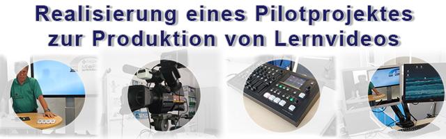 Produktion von Lernvideos im Aufnahmestudio
