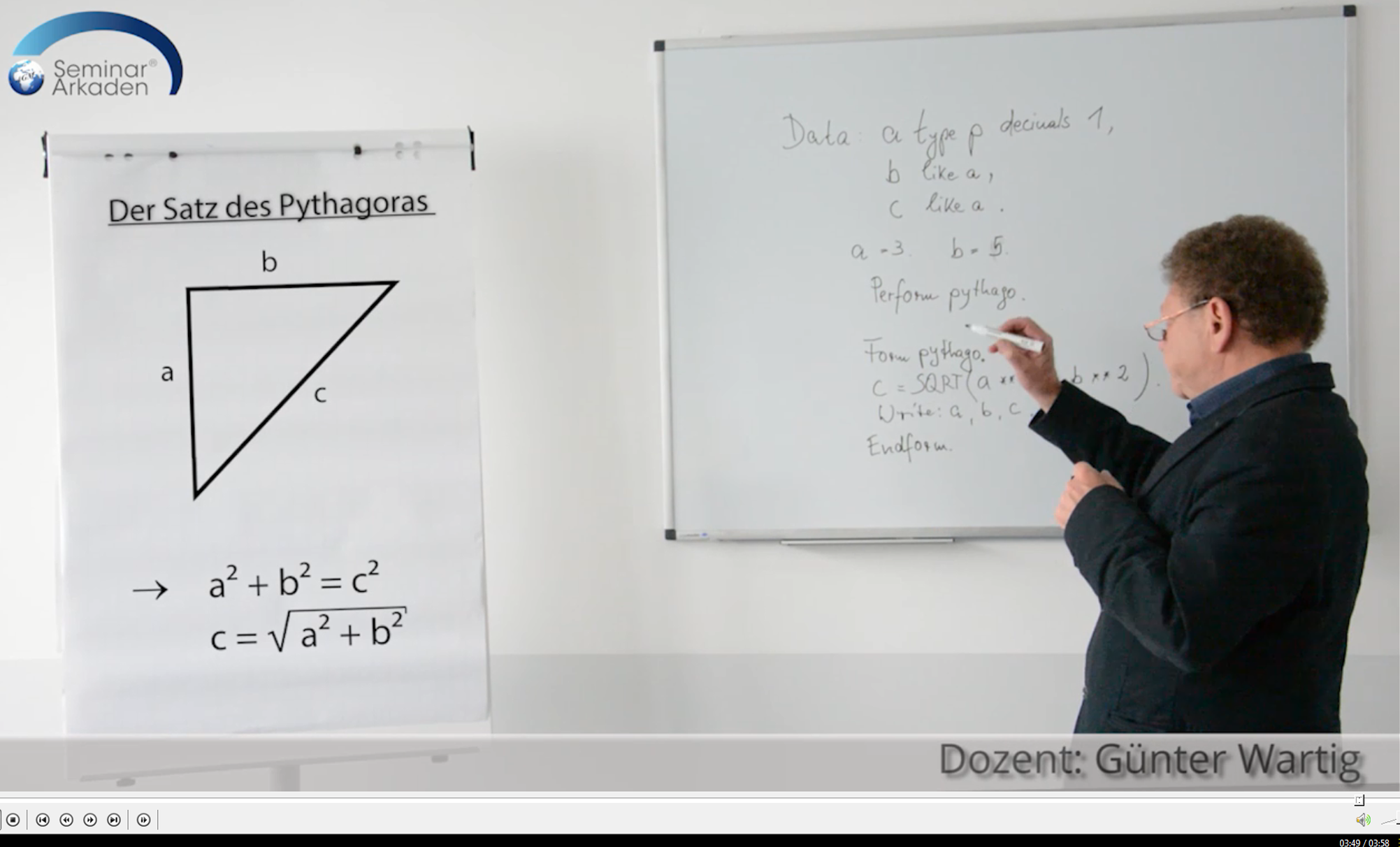 Präsentation Pythagoras Whiteboard